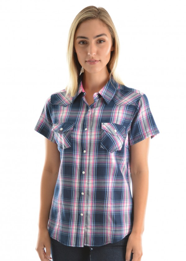 WOMENS CINDY CHECK S/S SHIRT