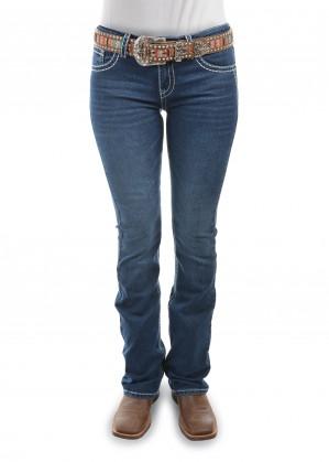 WOMENS SELINA BOOT CUT JEAN - 34 LEG