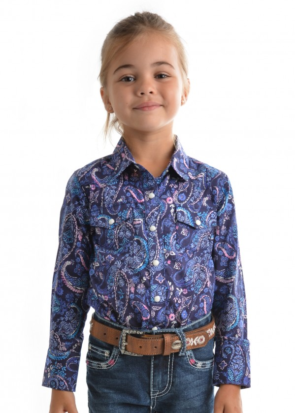 GIRLS PENELOPE PRINT L/S SHIRT