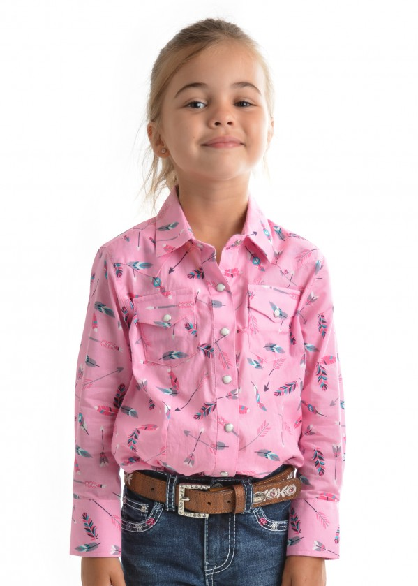 GIRLS LILLIAN PRINT L/S SHIRT