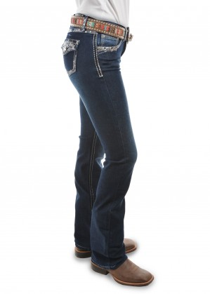WOMENS TAYLOR BOOT CUT JEAN - 34 LEG