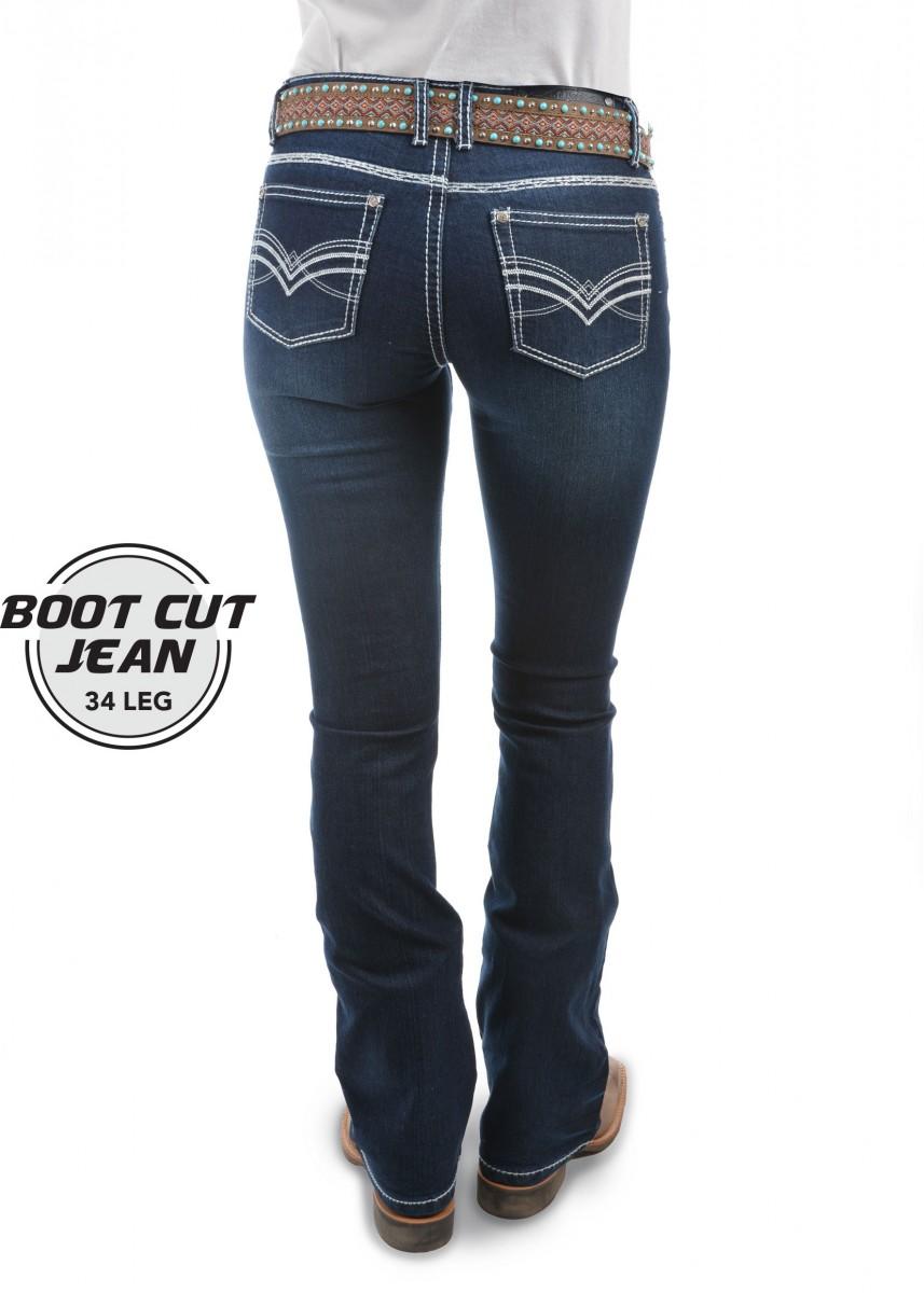 WOMENS HANNAH BOOT CUT JEAN - 34 LEG
