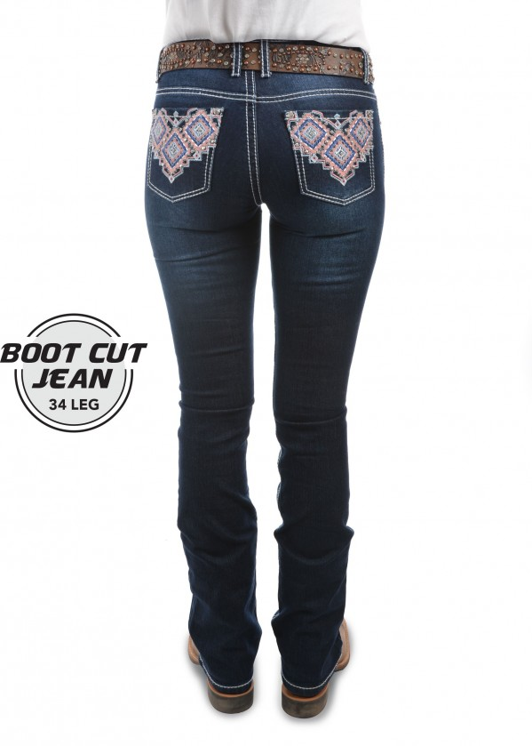 WOMENS MACY BOOT CUT JEAN - 34 LEG