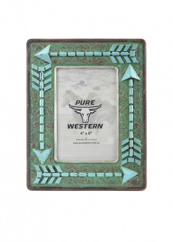 TURQUOISE ARROW PICTURE FRAME 4X6