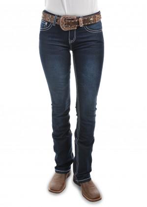 WOMENS MACY BOOT CUT JEAN - 34 LEG