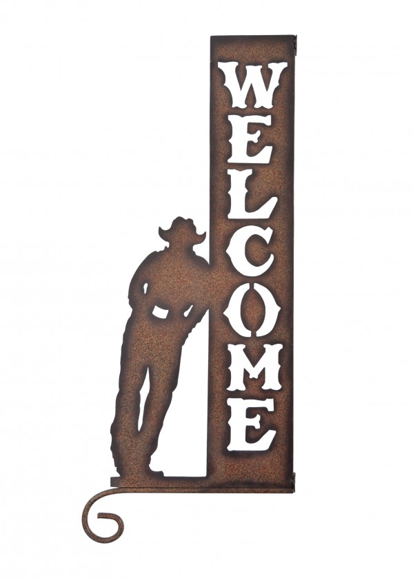 CUT-OUT WELCOME SIGN