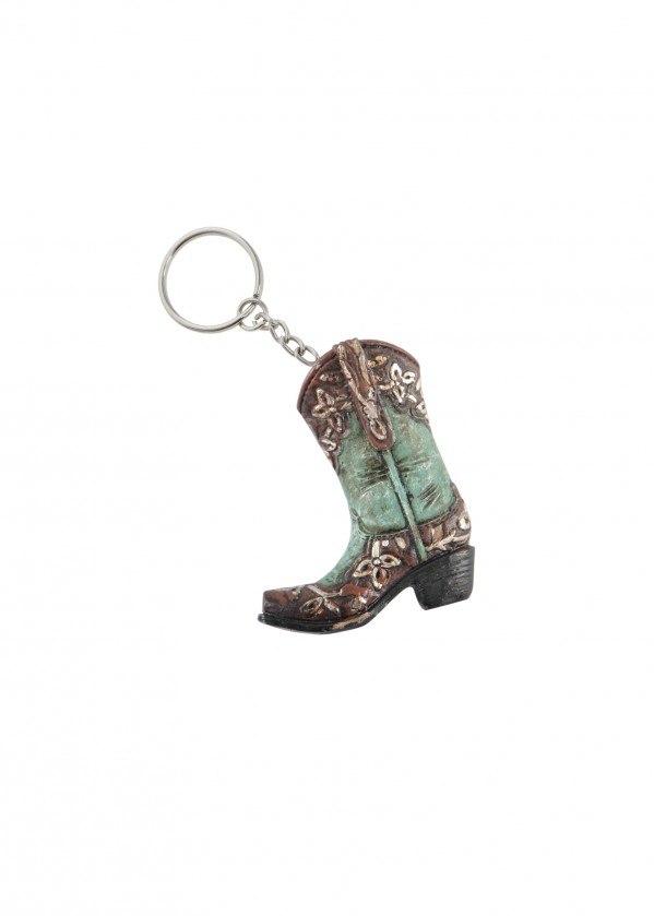 BOOT TURQUOISE KEY CHAIN