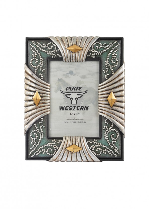 SILVER LOOK 4 SIDES PICTURE FRAME 6X4