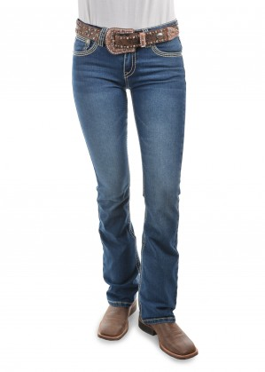 WOMENS SAVANNAH BOOT CUT JEAN - 34 LEG