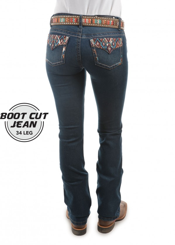 WOMENS COURTNEY BOOT CUT JEAN 34 LEG