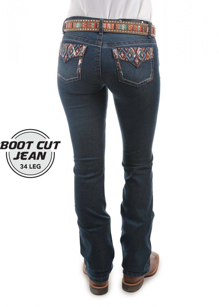 WOMENS COURTNEY BOOT CUT JEAN - 34 LEG