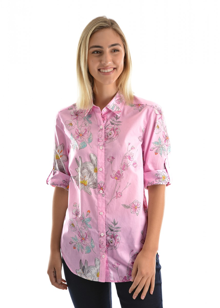WOMENS ASHLEIGH 3/4 SLEEVE SHIRT