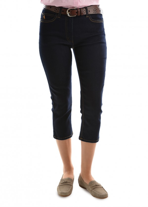 WOMENS HAMILTON CROP W/J CAPRI - SLIM LEG