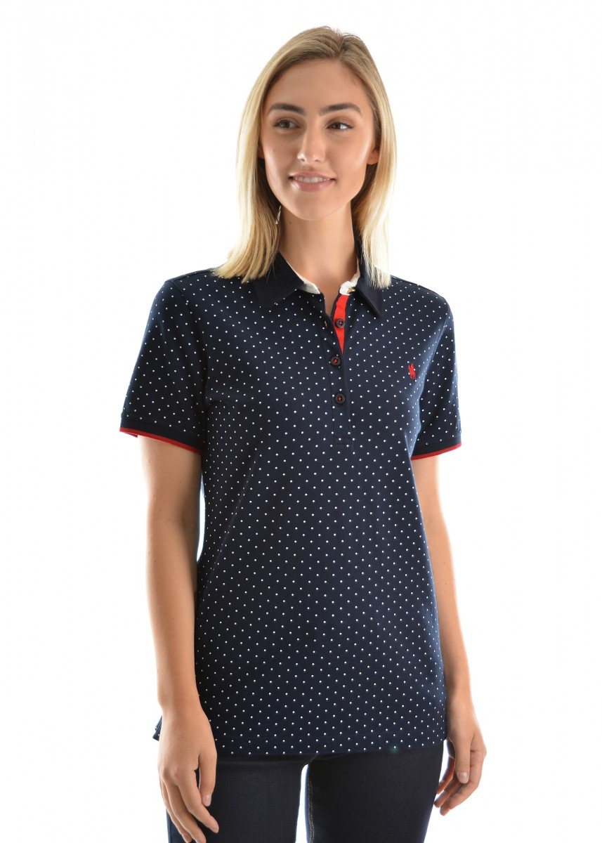 WOMENS SPOT S/S POLO