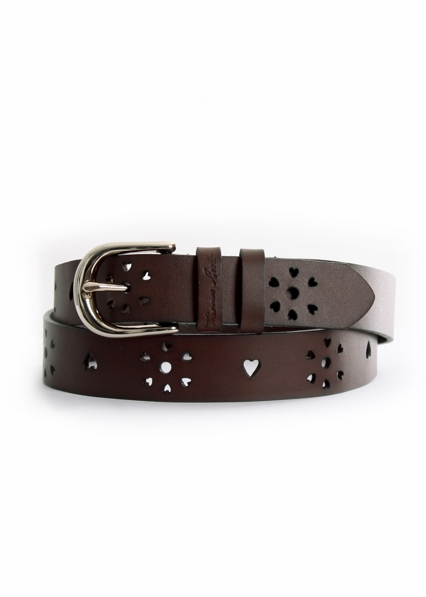 WOMENS HEART CUT OUT BELT