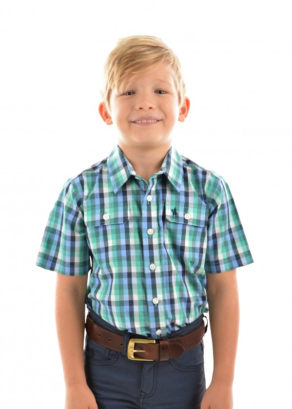 BOYS SAM 2-PKT S/S SHIRT