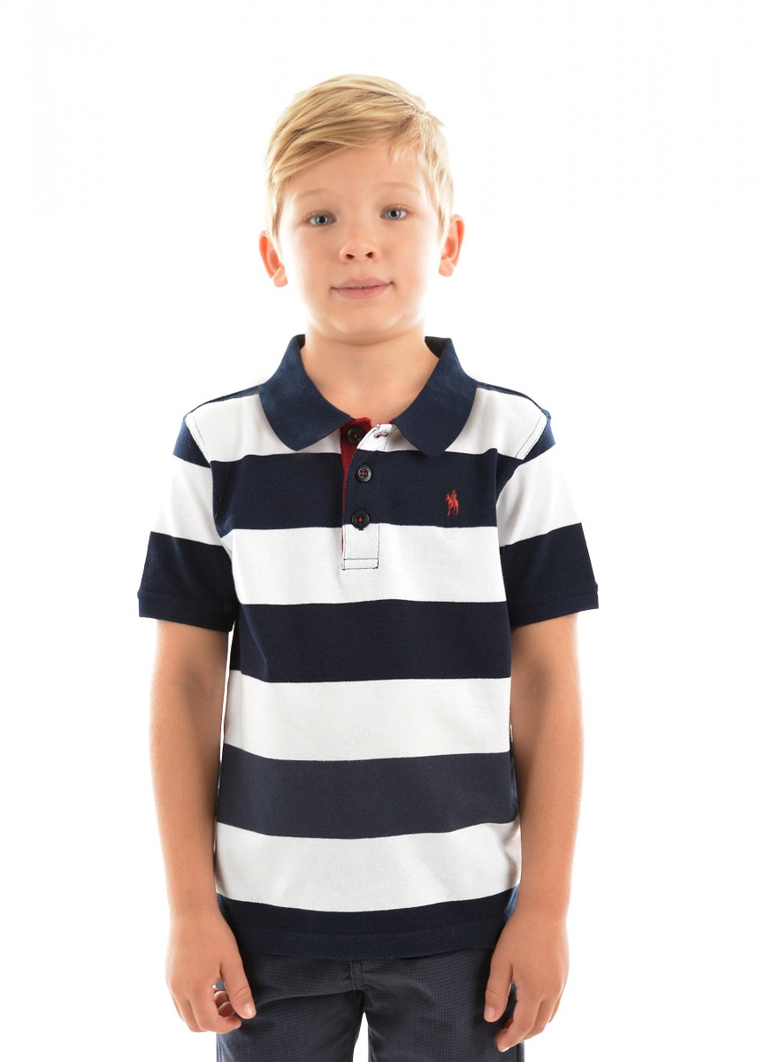 BOYS BATEMAN STRIPE S/S POLO