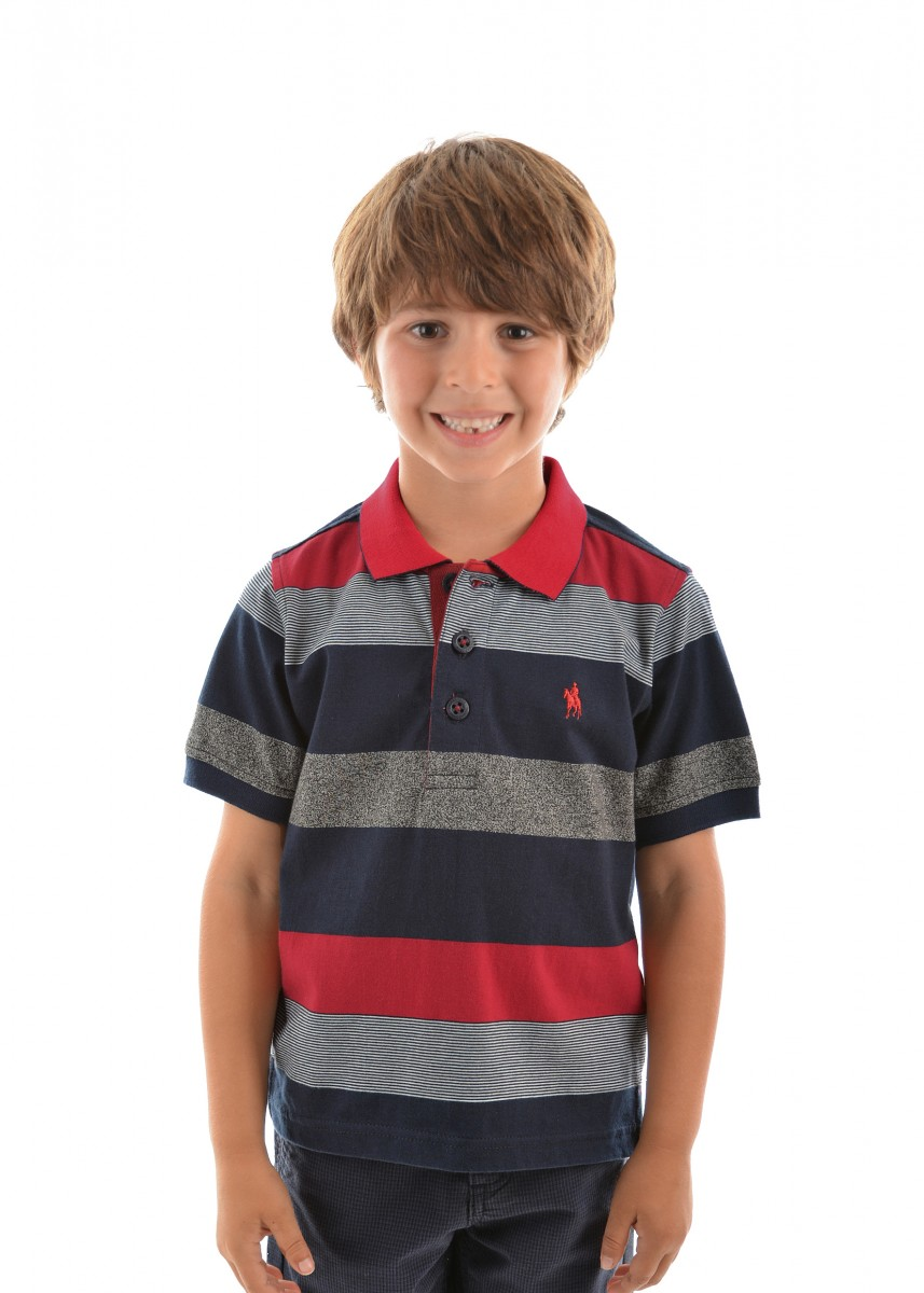 BOYS LEWIS STRIPE S/S POLO