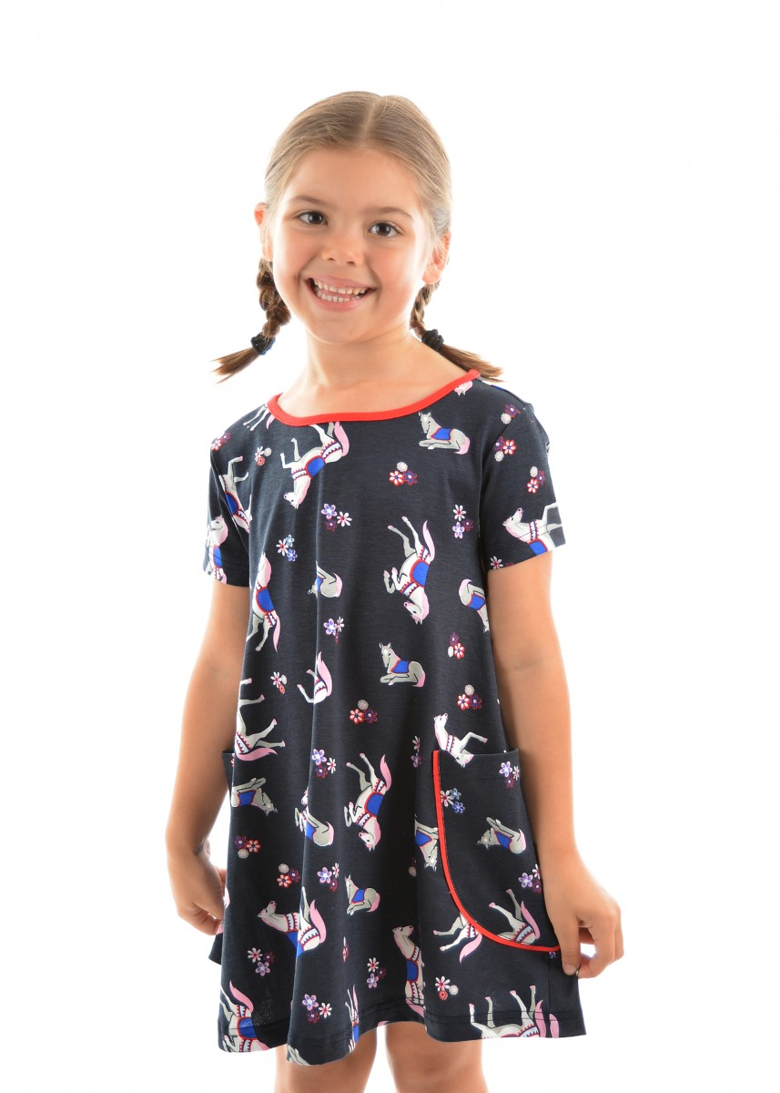 GIRLS HORSE PRINT DRESS