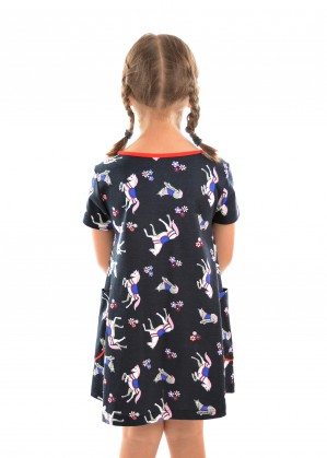 GIRLS HORSE PRINT DRESS