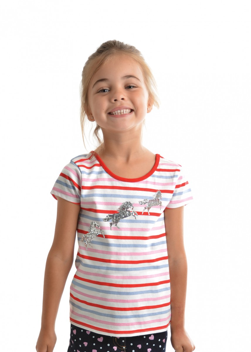 GIRLS JUMPING HORSE TEE