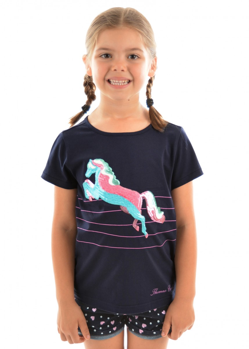 GIRLS SEQUIN HORSE TEE