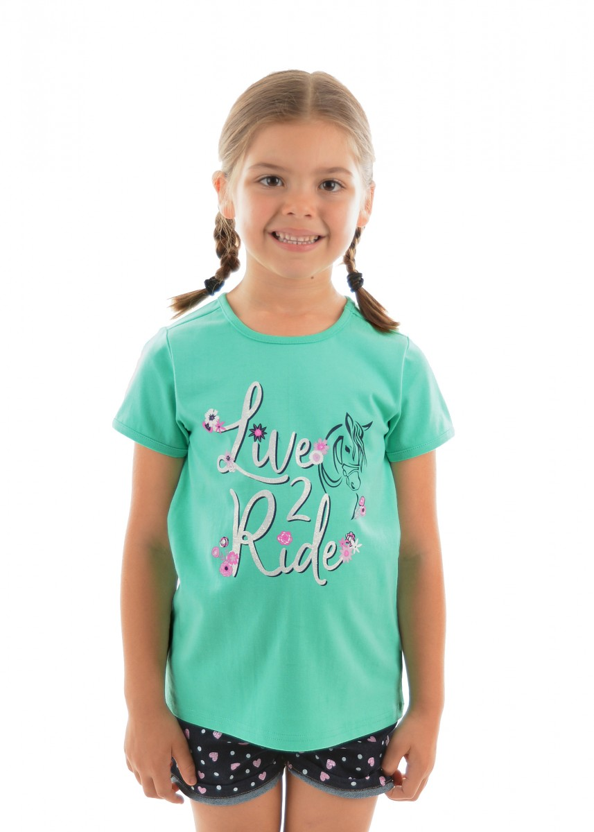 GIRLS LIVE 2 RIDE TEE