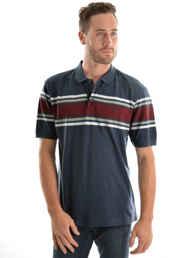 MENS BAKER STRIPE S/S POLO