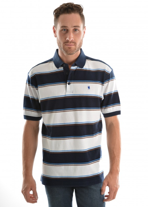 MENS DIGBY STRIPE S/S POLO