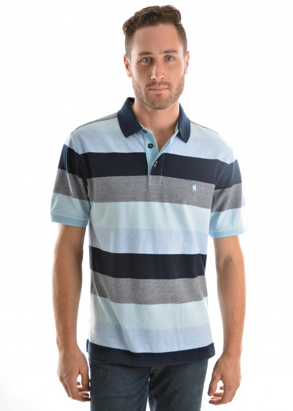 MENS PARK STRIPE S/S POLO