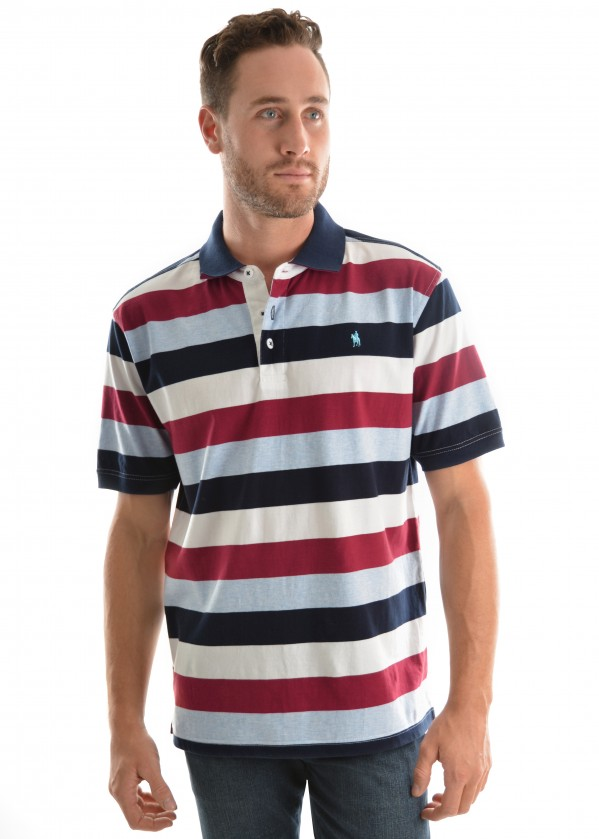MENS ROBINSON STRIPE S/S POLO