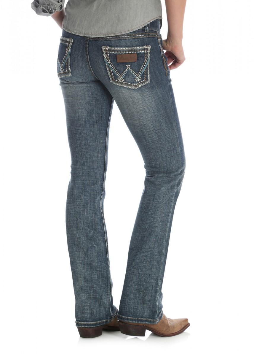 WOMENS RETRO LOW RISE B/CUT JEAN - SADIE - 34 LEG