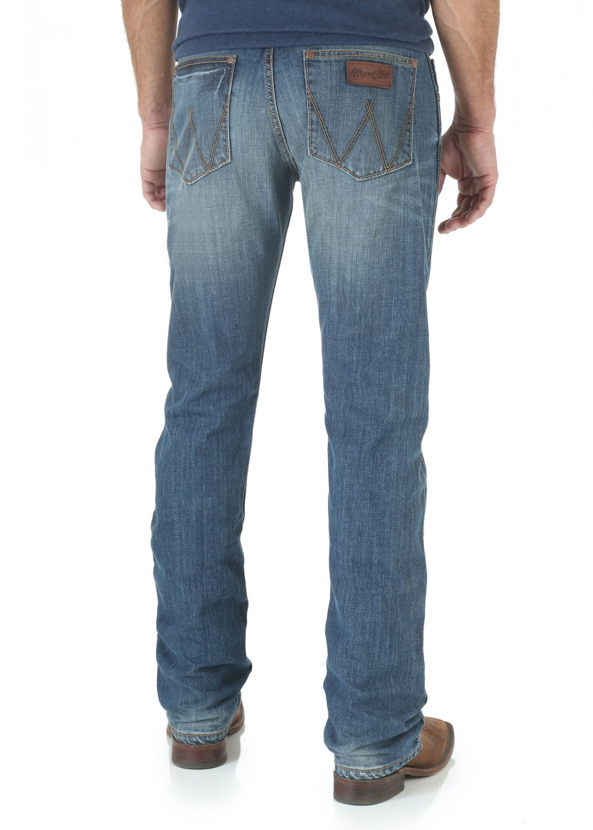 MEN RETRO SLIM STRAIGHT JEAN