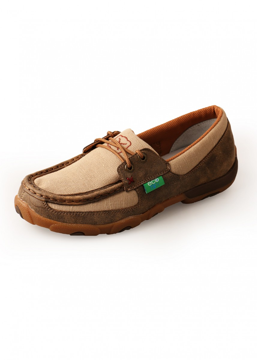WOMENS ECO BOMBER MOCS LOW LACE UP