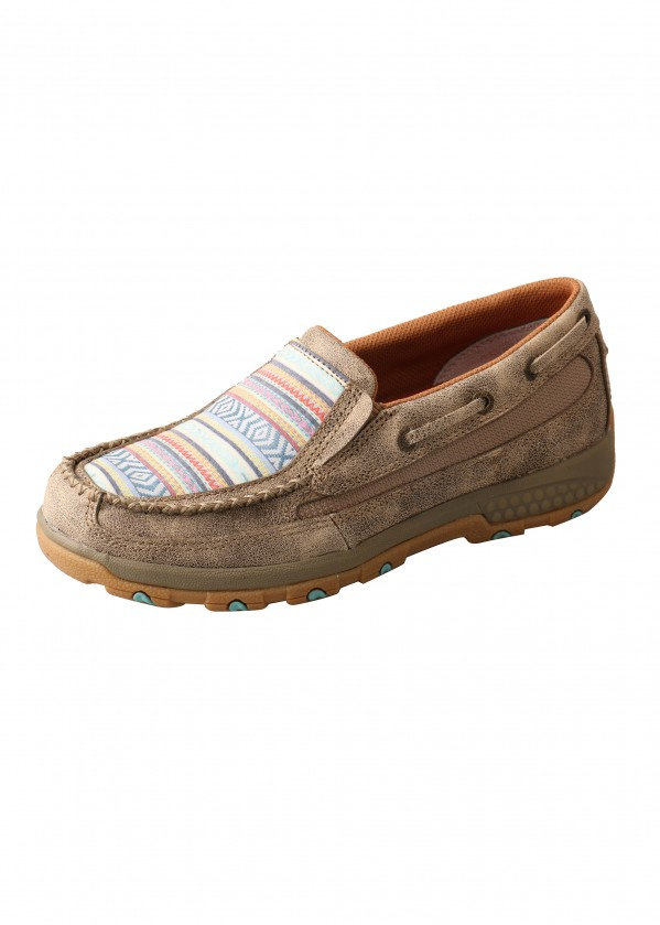 WOMENS AZTEC CELL STRETCH SLIP ON