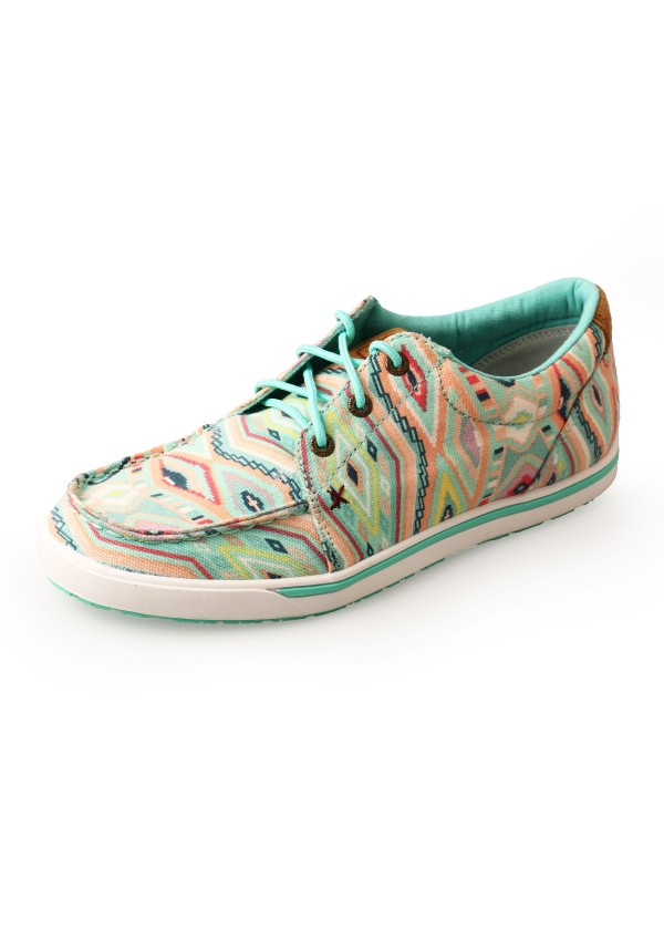 WOMENS GEOMETRIC LOPERS LOW LACE UP
