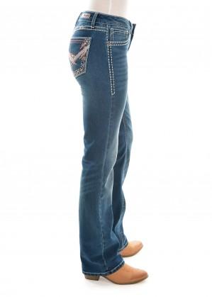 WMNS SITS ABOVE HIP JEAN 34 LEG