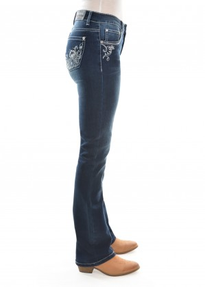 WOMENS ROSIE BOOT CUT JEAN 34 LEG