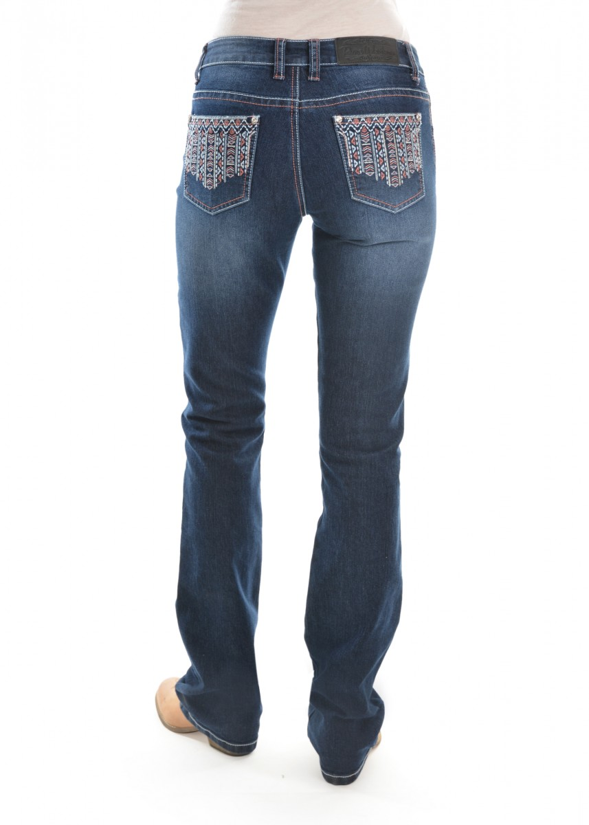 WOMENS ANGIE RELAXED RIDER JEAN 36 LEG