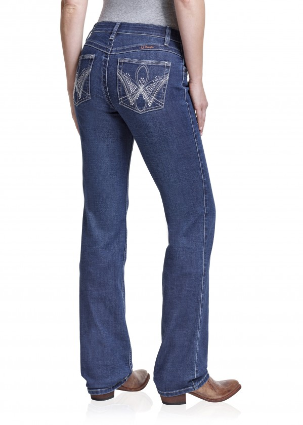 WOMENS MID RISE BOOT CUT JEAN - Q BABY