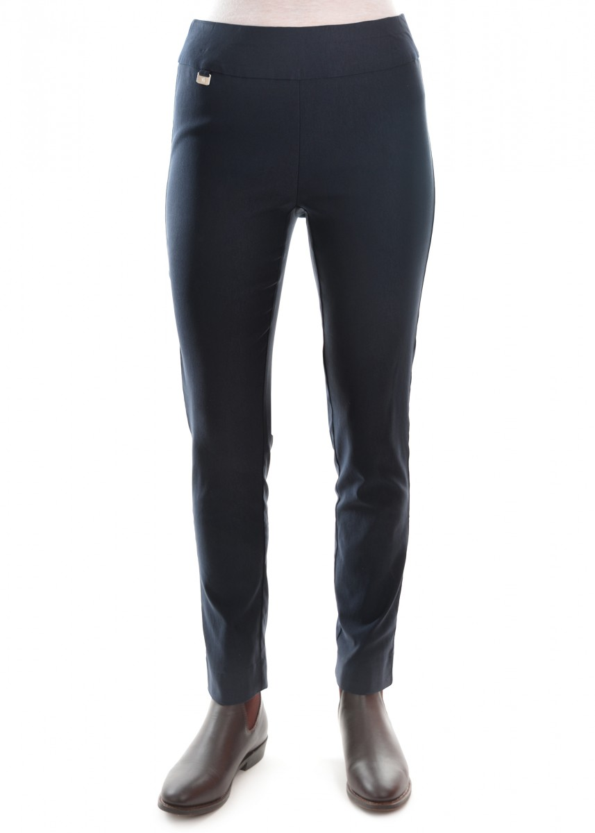 WOMENS TUMMY-CONTROL PULL-ON SLIM PANT 32 LEG