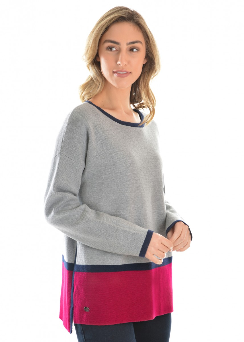 WOMENS BLOCK STRIPED JUMPER