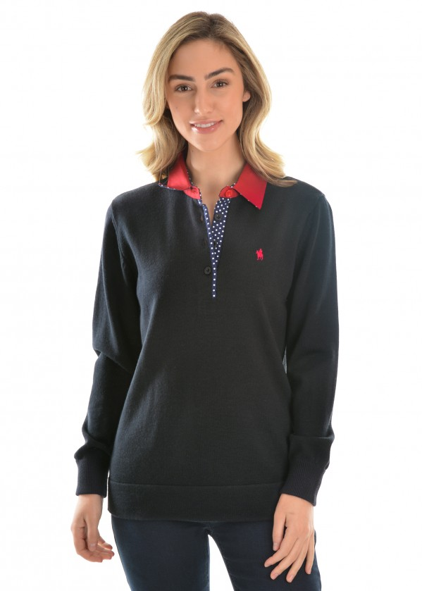 WOMENS JEANETTE MERINO  BLEND RUGBY