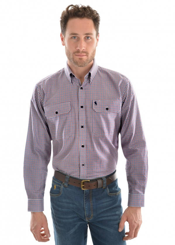 MENS CAMPBELL CHECK 2-PKT L/S SHIRT