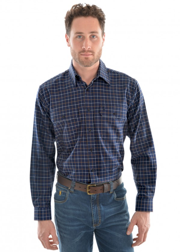 MENS COLEMAN CHECK 2-POCKET L/S SHIRT