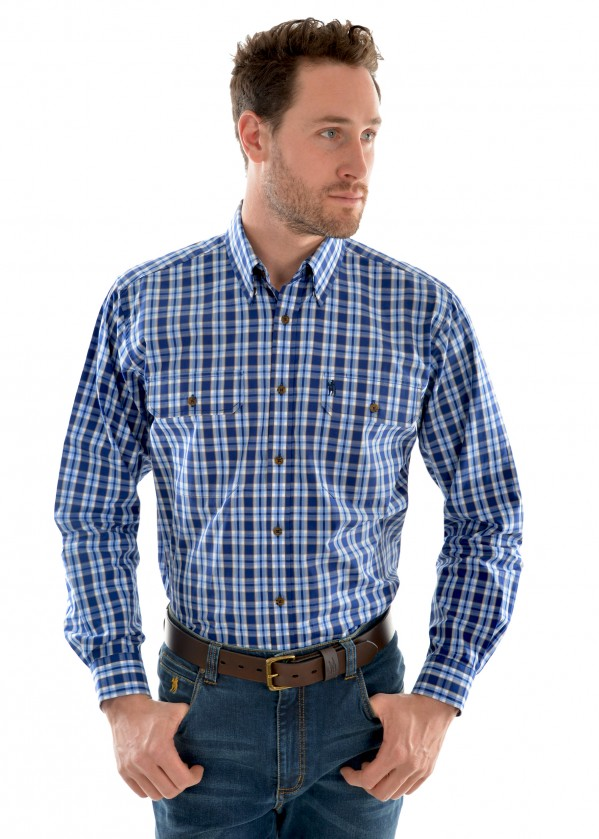 MENS CULLEN CHECK 2-POCKET L/S SHIRT