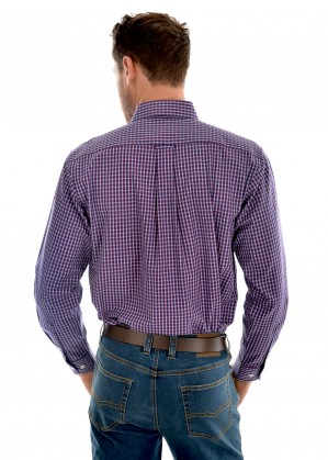 MENS HENLEY CHECK 2-POCKET L/S SHIRT