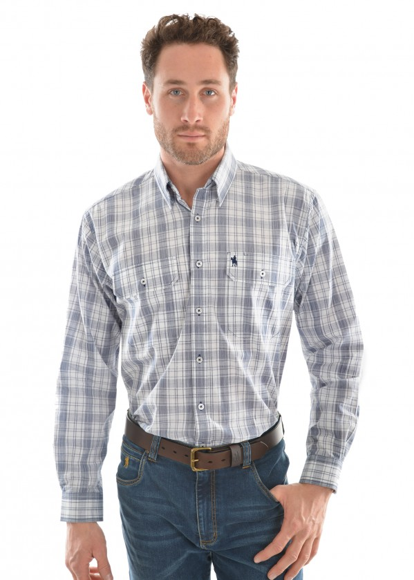 MENS ANDREW CHECK 2-PKT L/S SHIRT