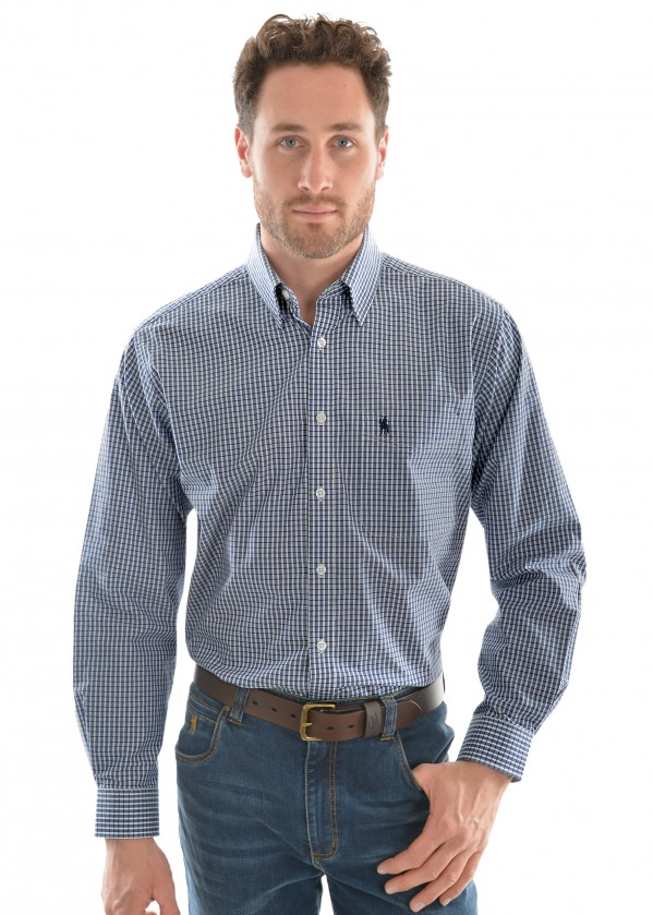 MENS ALBERT CHECK 1-PKT L/S SHIRT