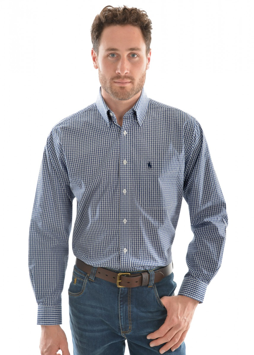 MENS ALBERT CHECK 1-POCKET L/S SHIRT